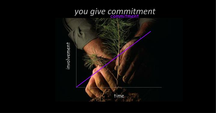 you give commitment