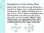 exceptions to the octet rule1