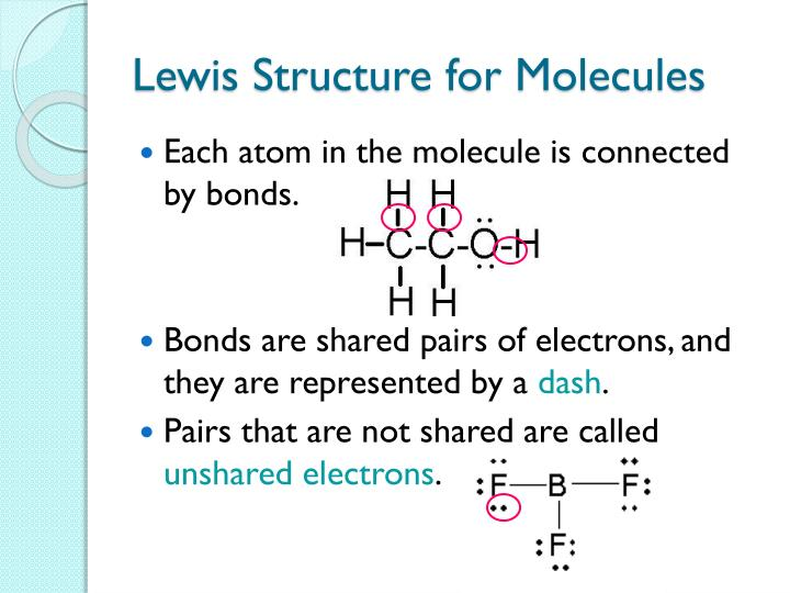 Lewis Structure for Molecules
