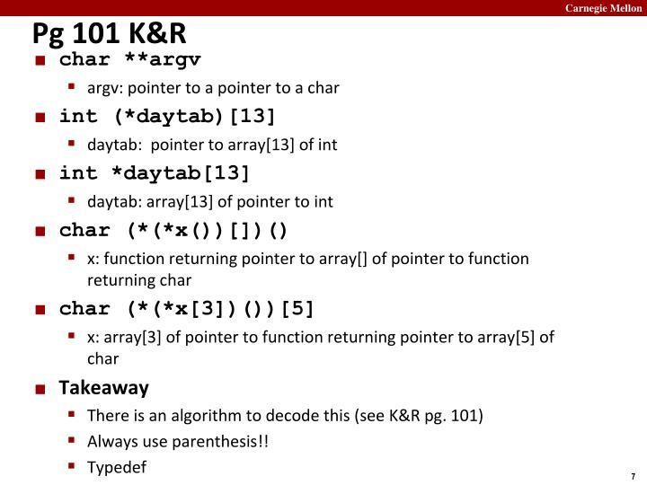 Pg 101 K&R