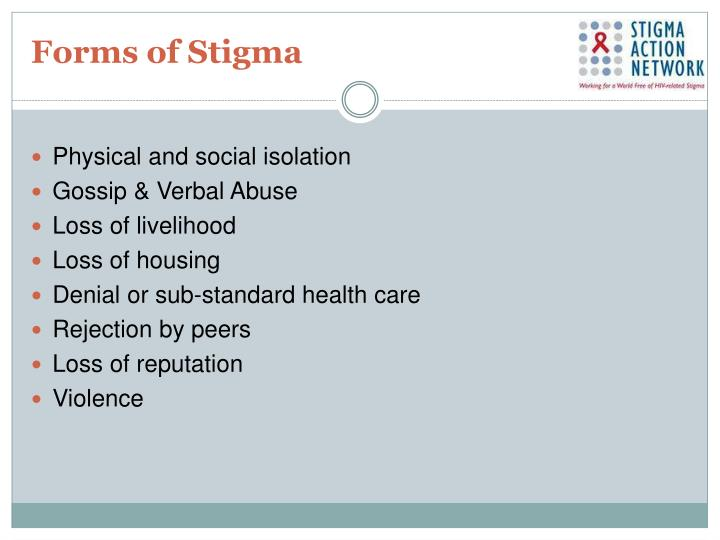 Forms of Stigma