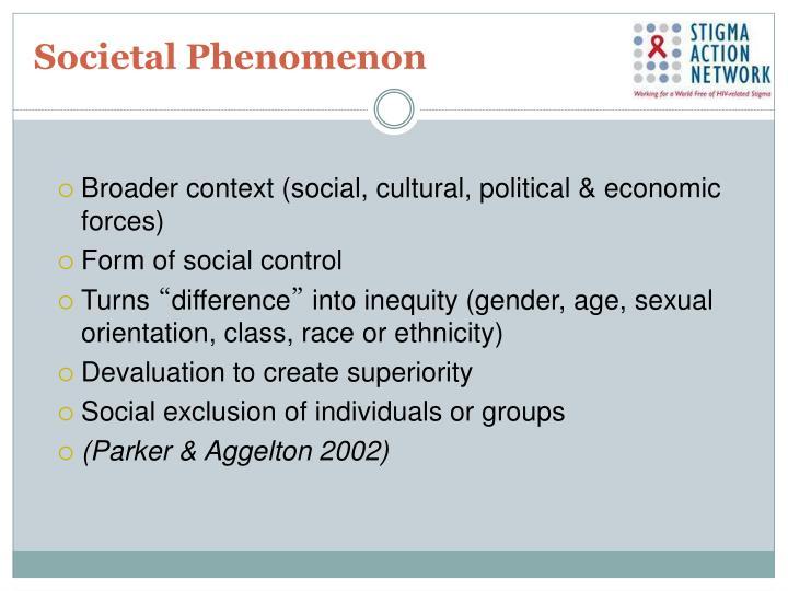 Societal Phenomenon