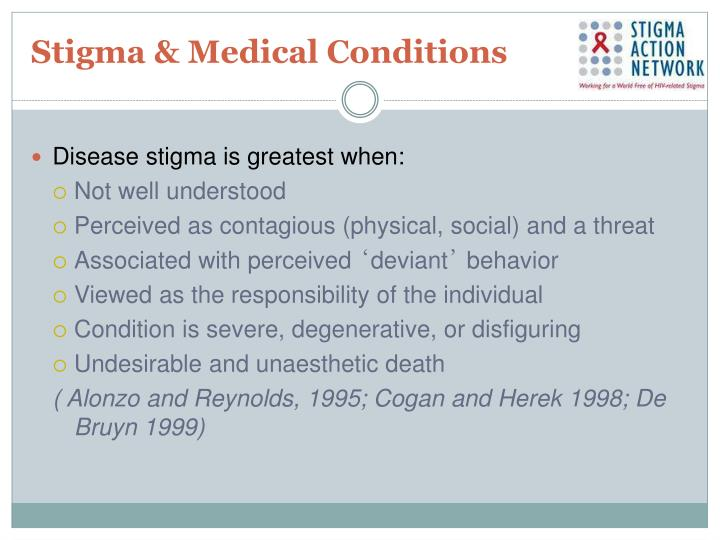 Stigma & Medical Conditions
