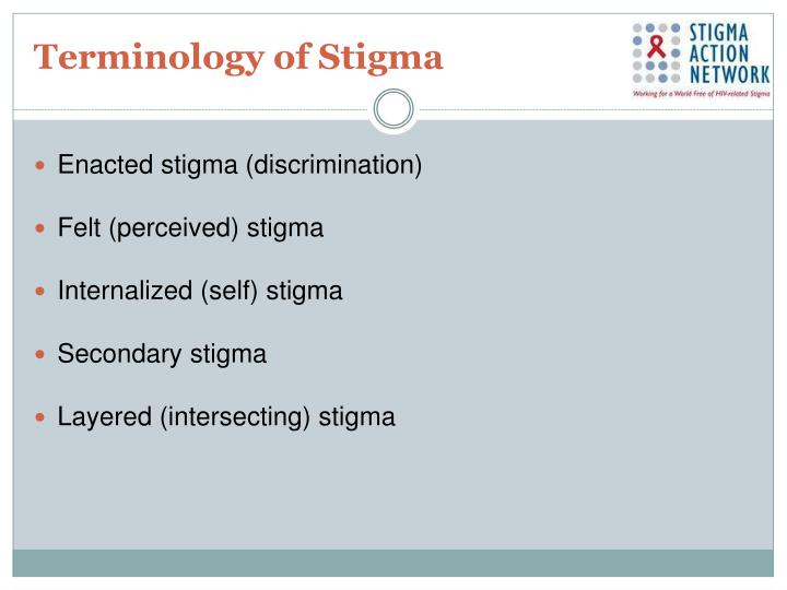Terminology of Stigma