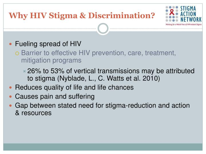 Why HIV Stigma & Discrimination?