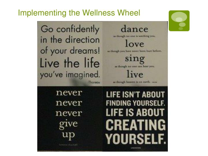 Implementing the Wellness Wheel