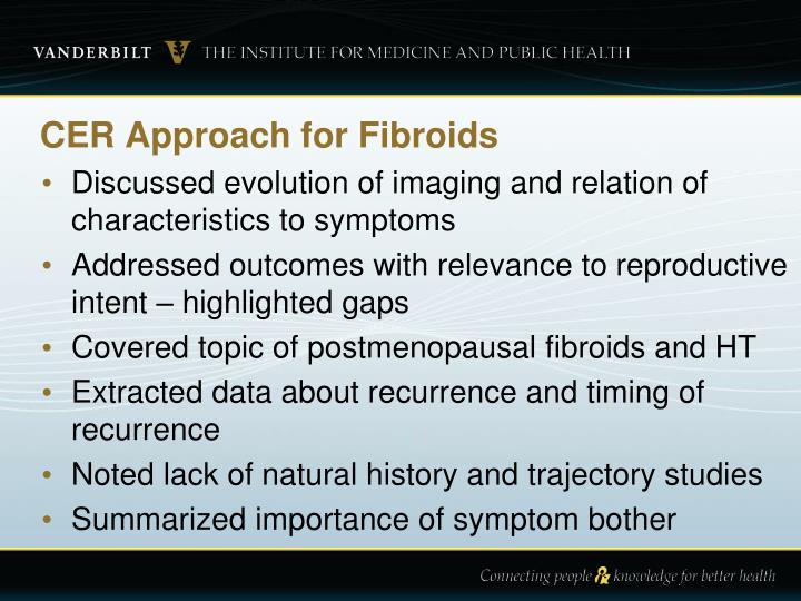 CER Approach for Fibroids