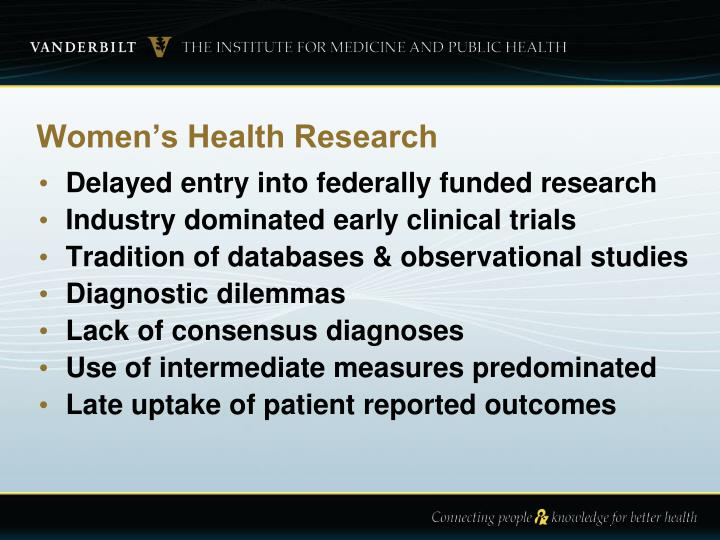 Women s health research
