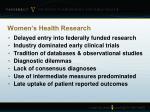 women s health research