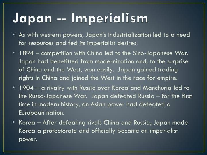 Japan -- Imperialism