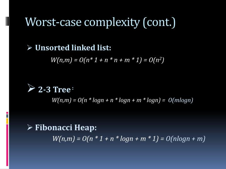 Worst-case complexity (cont.)