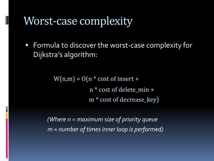 Worst-case complexity