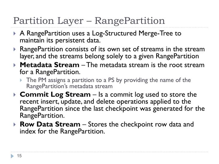 Partition Layer –