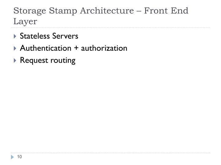 Storage Stamp Architecture –