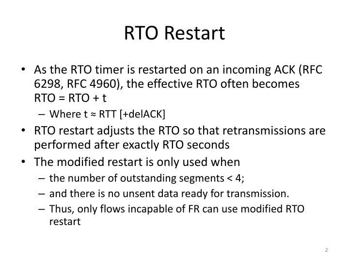 RTO Restart