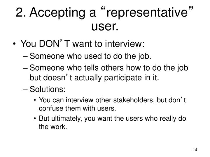 2. Accepting a