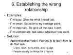 6 establishing the wrong relationship