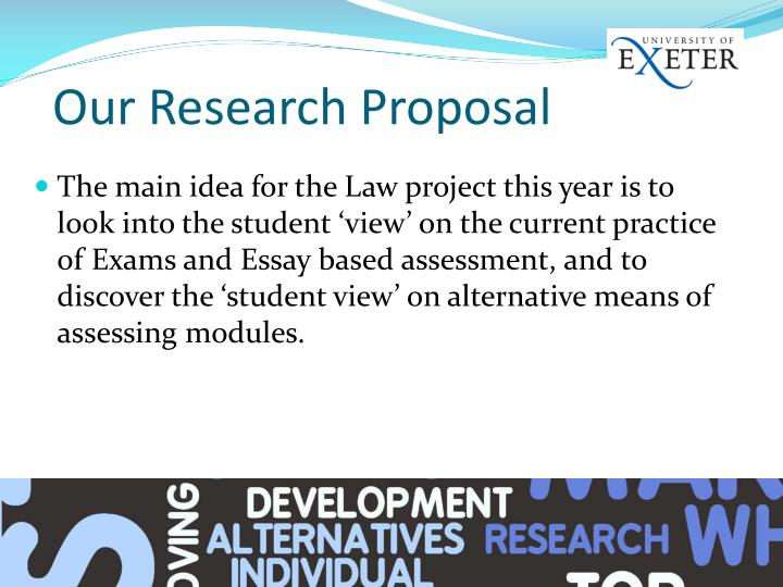 Our research proposal