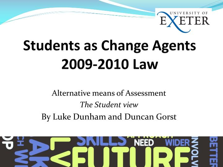 Students as change agents 2009 2010 law