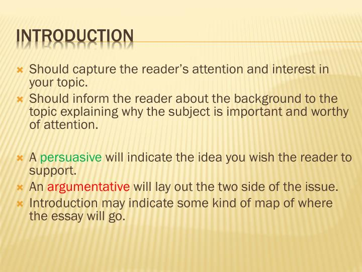 Should capture the reader's attention and interest in your topic.