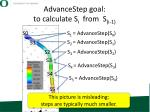 advancestep goal to calculate s i from s i 1