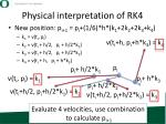 physical interpretation of rk4