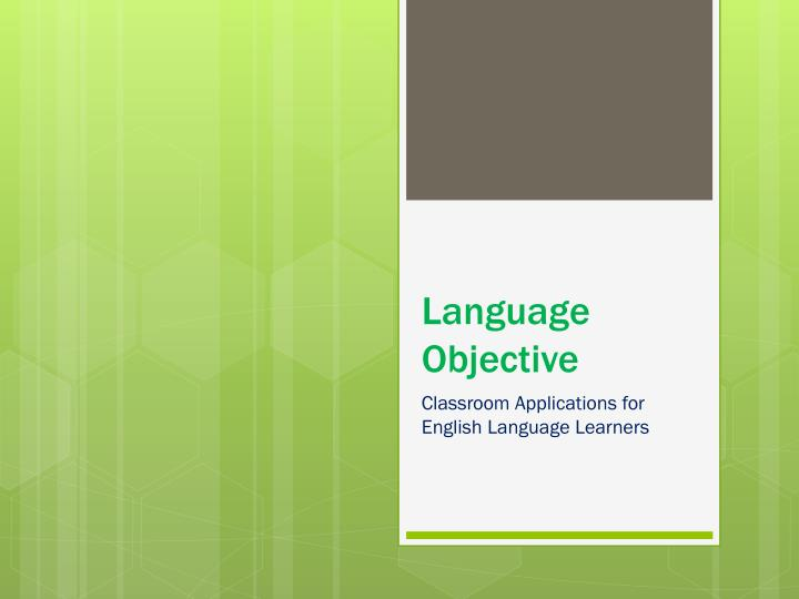 Language objective