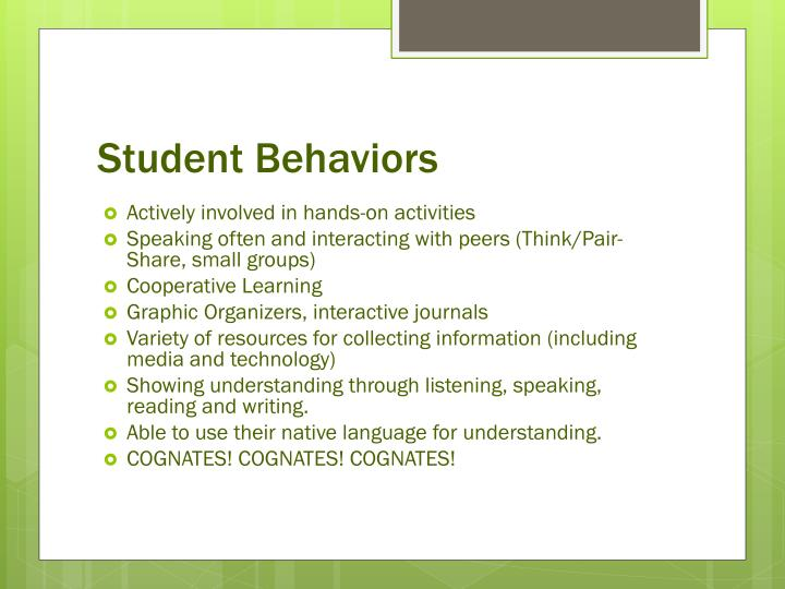 Student Behaviors