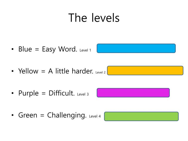 The levels