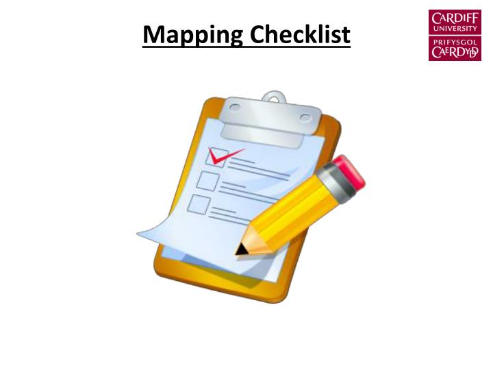 Mapping Checklist