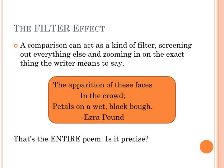 The FILTER Effect