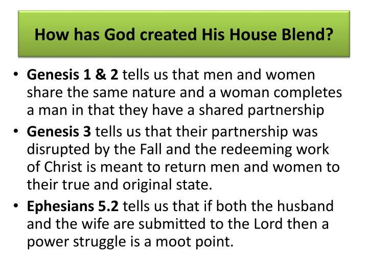 How has God created His