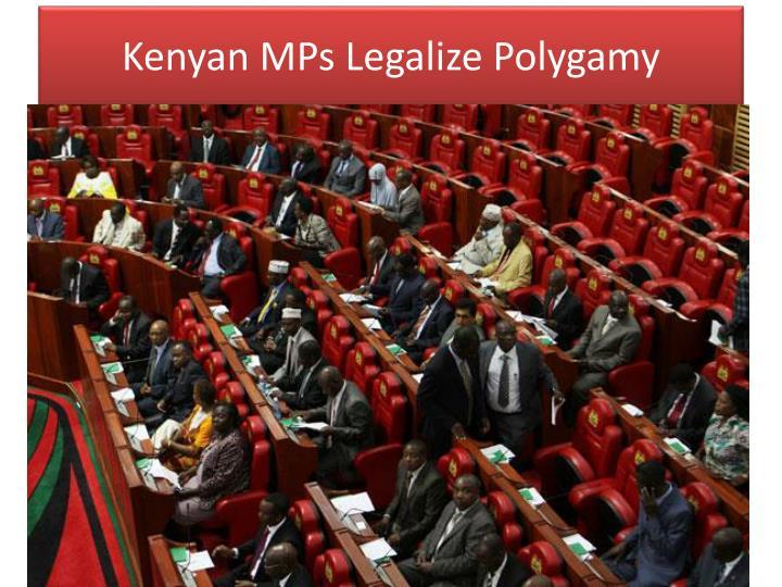 Kenyan MPs Legalize Polygamy