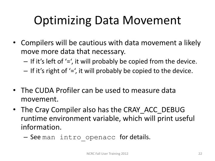 Optimizing Data Movement