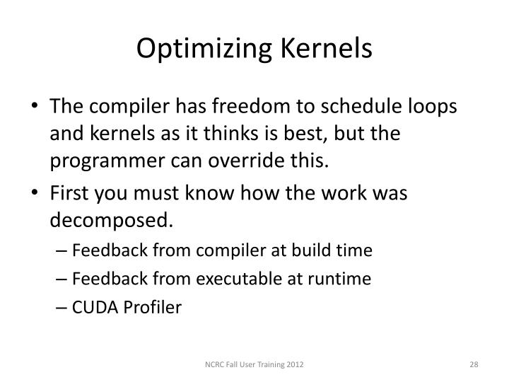 Optimizing Kernels