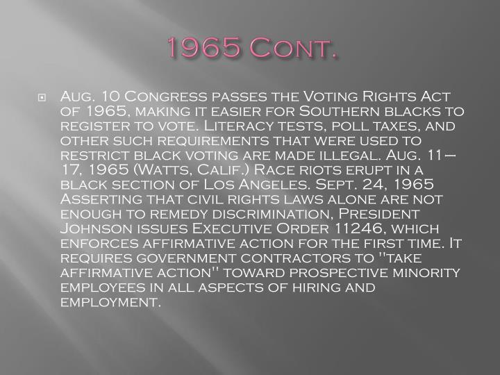 1965 Cont.