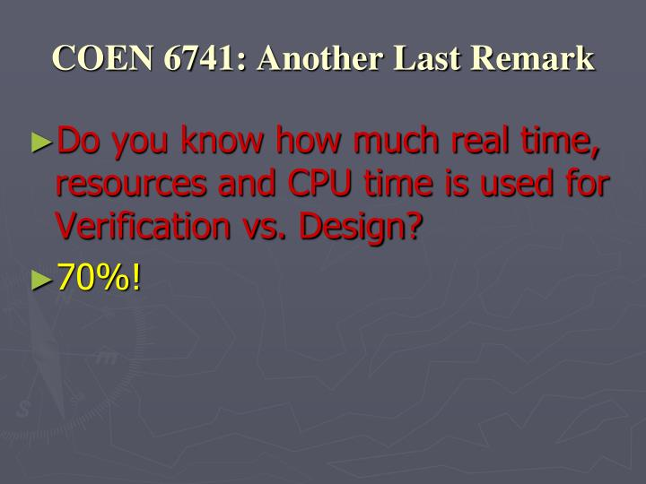 COEN 6741: