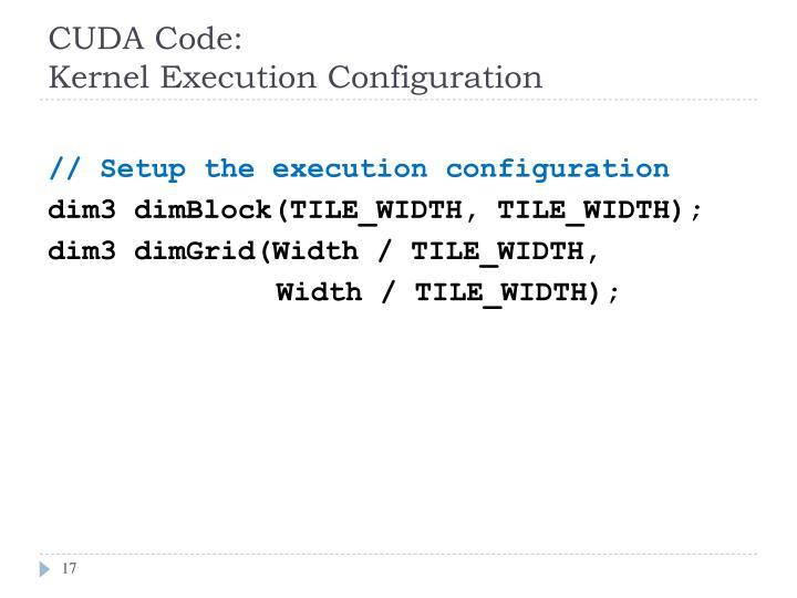 CUDA Code: