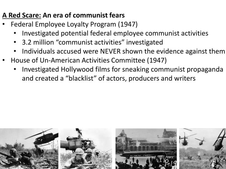 A Red Scare: