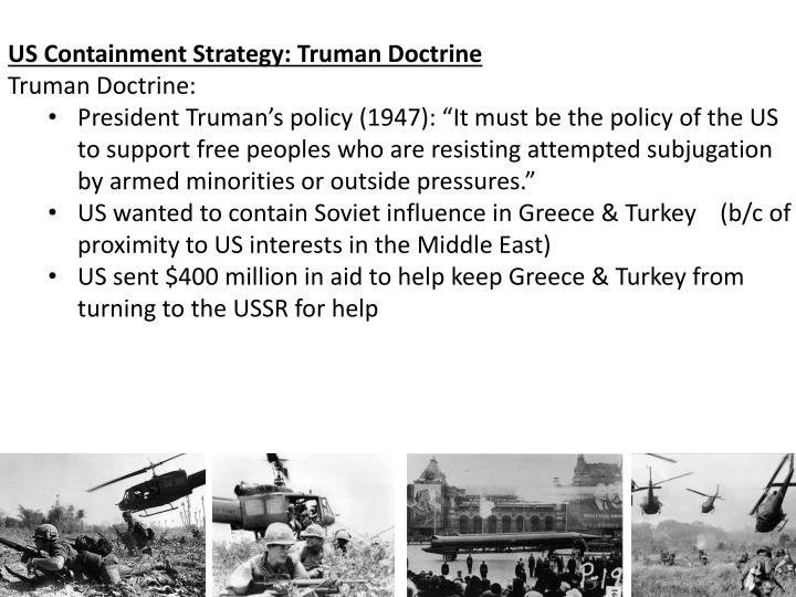 US Containment Strategy: Truman Doctrine
