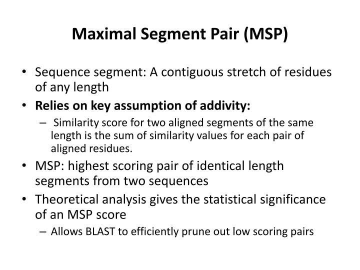 Maximal Segment Pair (MSP)