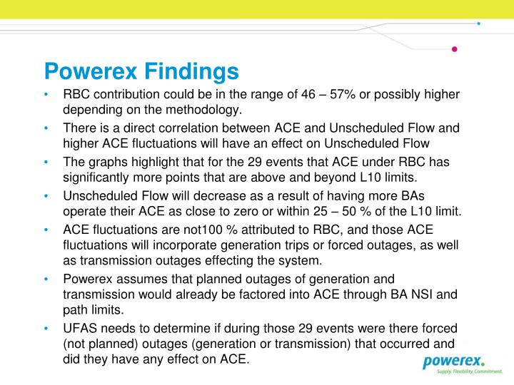 Powerex Findings