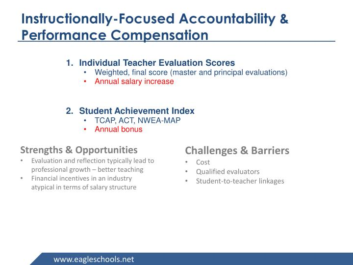 Instructionally-Focused Accountability & Performance Compensation