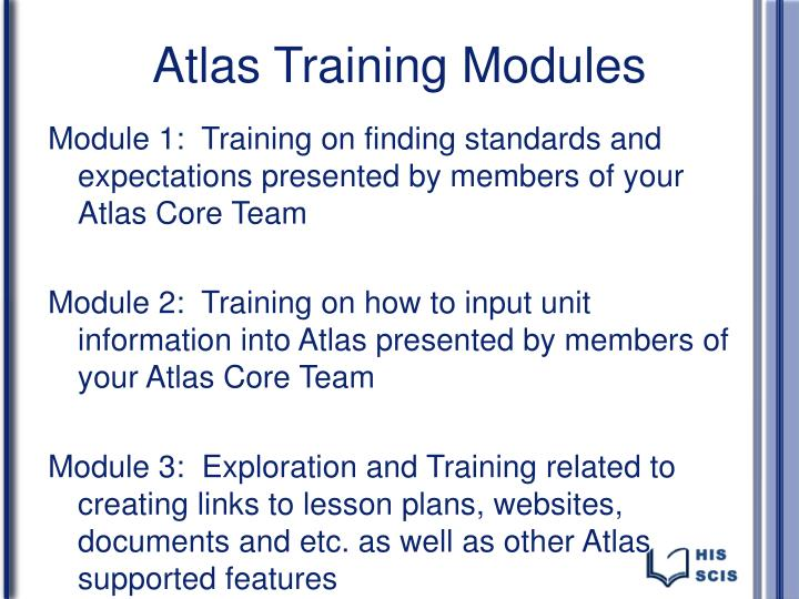Atlas Training Modules