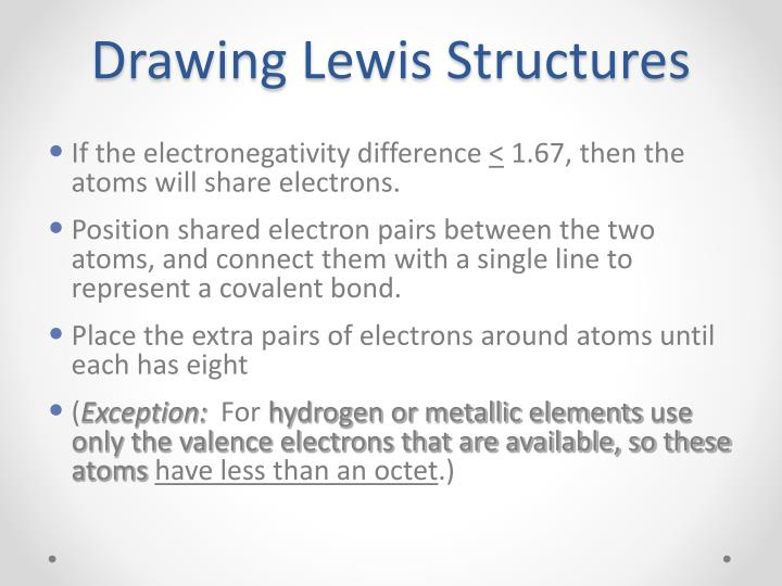 Drawing lewis structures2