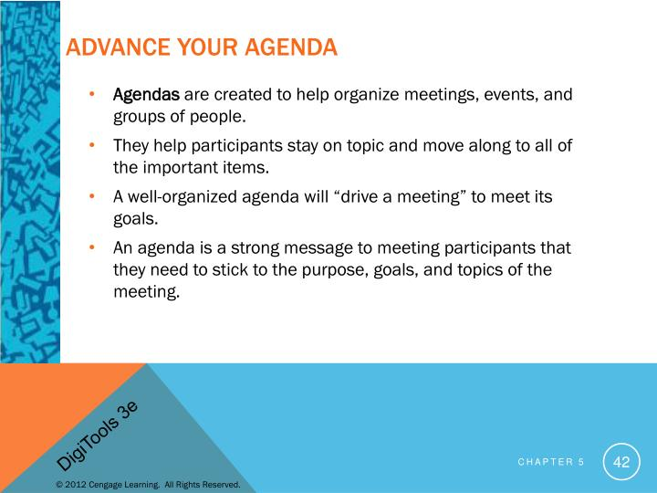 Advance Your Agenda