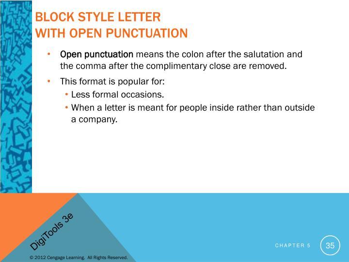 Block Style Letter