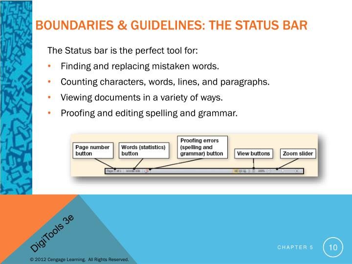 Boundaries & Guidelines: The Status Bar