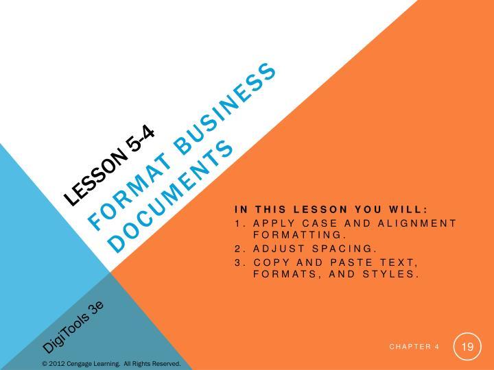 Lesson 5-4