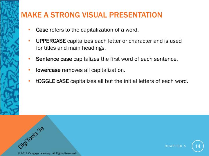 Make a Strong Visual Presentation